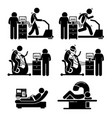 exercise stress test for heart disease stick vector image