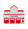 fire station flat colorful building icon vector image vector image