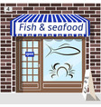fish and seafood shop vector image vector image