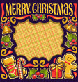 frame for merry christmas vector image vector image