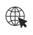 go to web icon internet sign vector image vector image