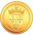 gold coin French ecu reverse vector image vector image