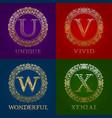 golden templates for unique vivid wonderful vector image vector image