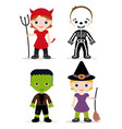 halloween kids costume vector image