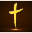 hand drawn cross grunge cross glowing christian vector image vector image