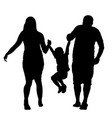 happy family enjoying in walking silhouette vector image vector image