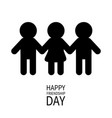 happy friendship day two black man male and one vector image vector image