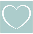 heart the white color icon vector image vector image