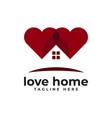 home love logo icon vector image vector image