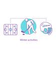 ice hockey concept icon vector image
