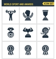 Icons set premium quality of Sport and awards vector image vector image