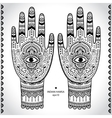 Indian hand drawn hamsa symbol ornament vector image vector image