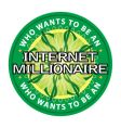 internet millionaire logo vector image vector image