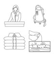 isolated object of laundry and clean symbol set vector image vector image