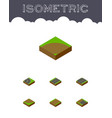 isometric way set of cracks asphalt incomplete vector image vector image