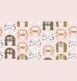 kids seamless pattern with colorful cute monsters vector image vector image