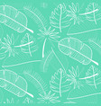 leaf pattern background hand drawn vector image vector image