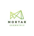 m letter abstract geometric polygonal mark logo vector image