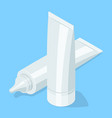 medical cream gel tube vector image vector image