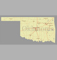 oklahoma detailed exact detailed state map vector image