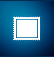 postal stamp icon isolated on blue background vector image