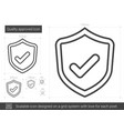 quality approved line icon vector image