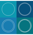 Round abstract chain frame set Outline effect Blue vector image vector image