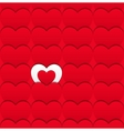Seamless love pattern of hearts vector image