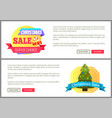 set of christmas sale cards vector image