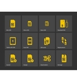 Set of SIM cards different sizes icons vector image vector image