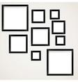 Set of vintage picture frames hanging vector image vector image
