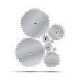 silver gear and cogwheel vector image vector image