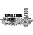 simulation word cloud concept vector image vector image