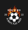 soccer t-shirt design with burning ball vector image