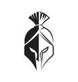 spartan helmet icon vector image vector image