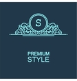 Stylish graceful monogram vector image vector image
