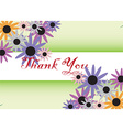 Thank You card background vector image