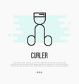 thin line icon of eyelash curler vector image