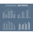 Transparent Bar Graphs vector image