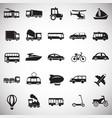 transportation and vehicles set on white vector image