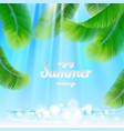 tropical palm leaf vector image vector image