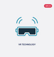 two color vr technology icon from smart home vector image vector image