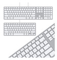 Two Keyboards vector image vector image