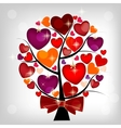 Valentines day card on the tree vector image