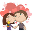 valentines day hand in hand vector image vector image