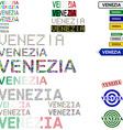Venezia text design set vector image vector image