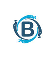 water clean service abbreviation letter b vector image vector image