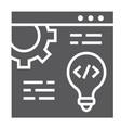 web development glyph icon website programming vector image vector image
