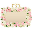 Wedding Flower Board vector image