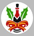 wine cristmas vector image vector image